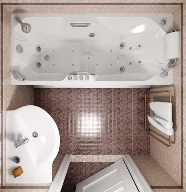 Ванная комната 180 на 180 мебель для ванной делафон