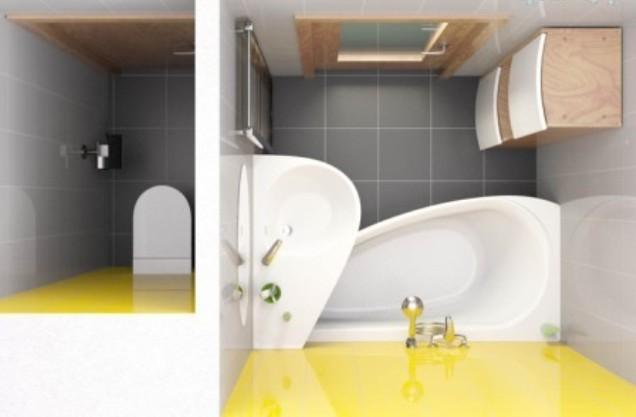 дизайн маленькой ванной комнаты - 35фото