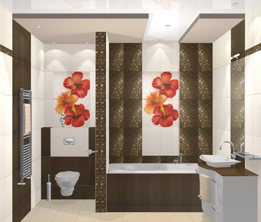Ванна дизайн стен