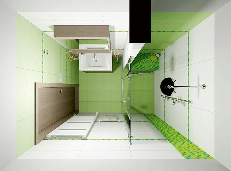 Дизайн ванной комнаты с душевой кабиной без