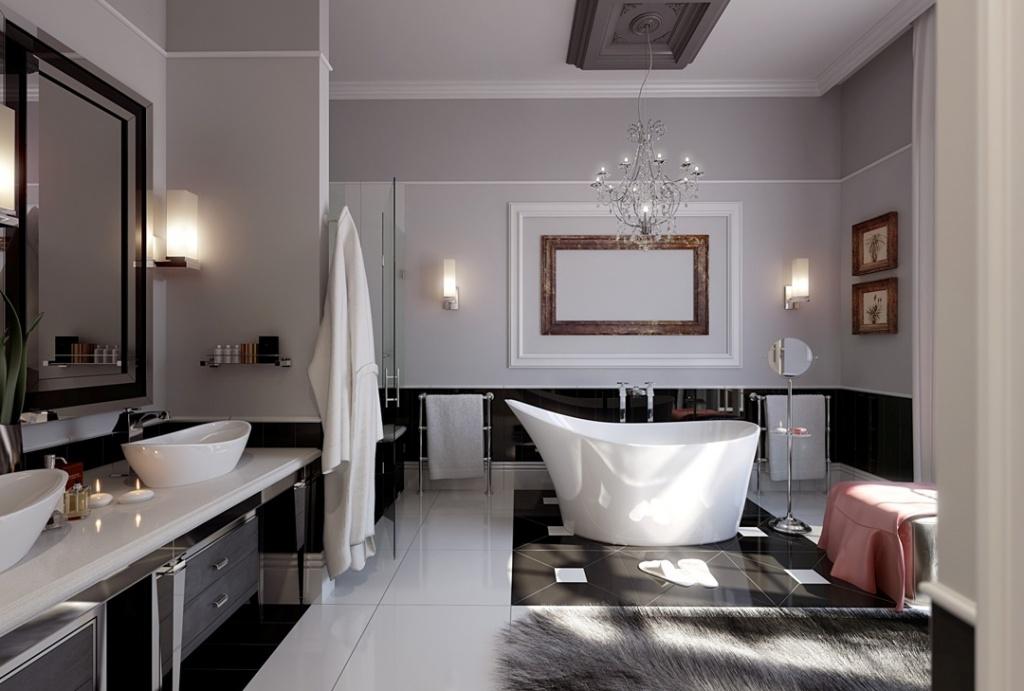может быть освещение в ванной комнате
