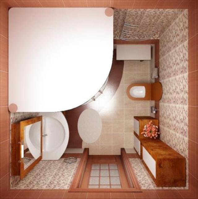отделка ванной с душевой кабиной фото
