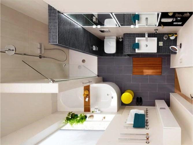 Красивые интерьеры ванных комнат (140 фото)