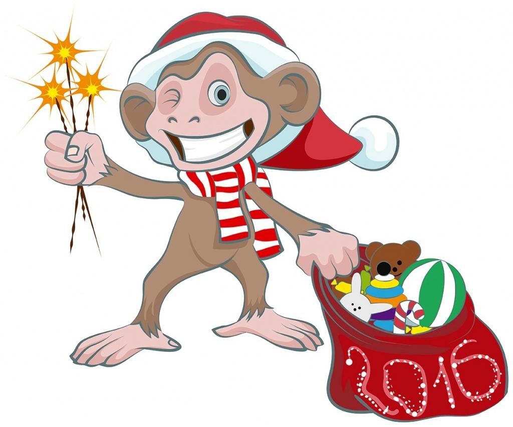 Сценки нового года обезьяны