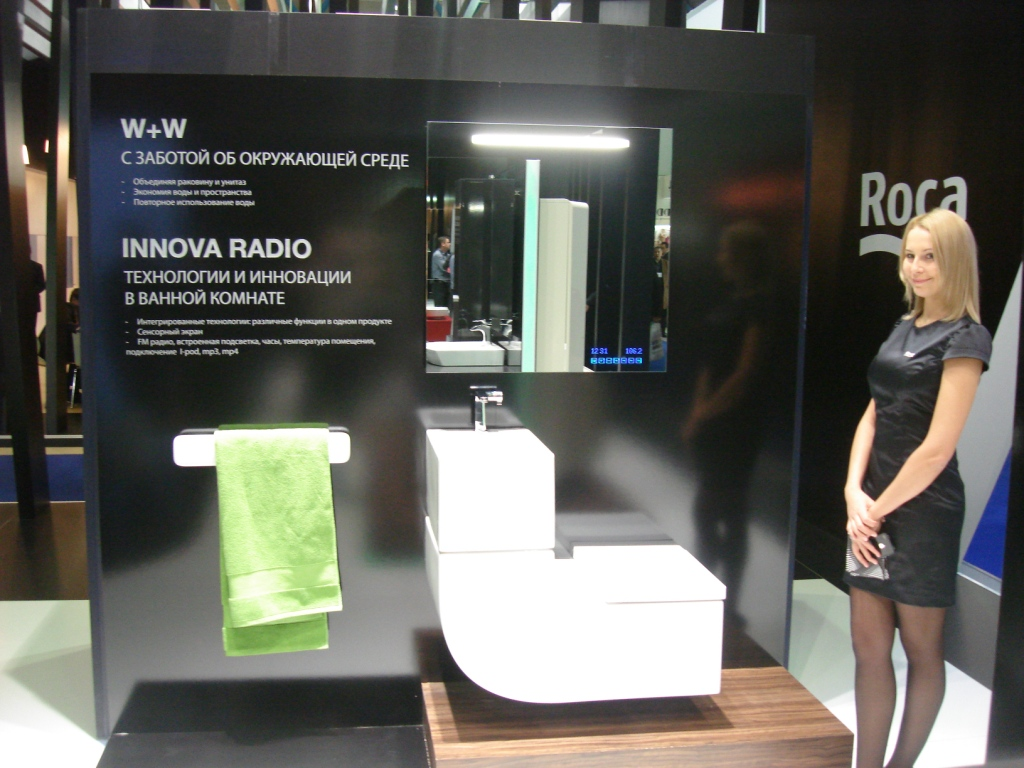 Roca - выставка MosBuild 2012 фото компании МИР САНТЕХНИКИ-Челябинск -5