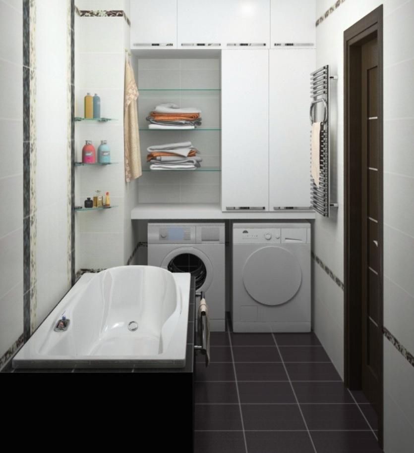 Как спрятать стиральную машину в ванной
