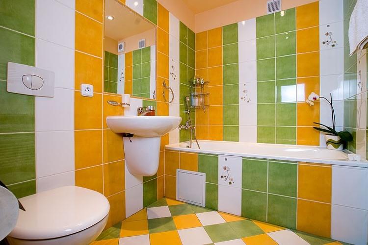ванная комната - зеленый цвет