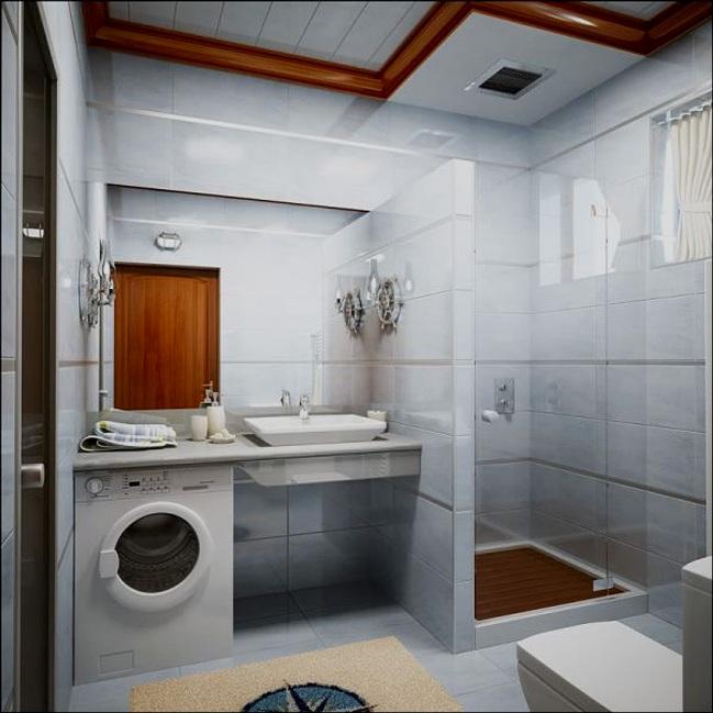 Ванная комната маленькая дизайн со стиральной машиной