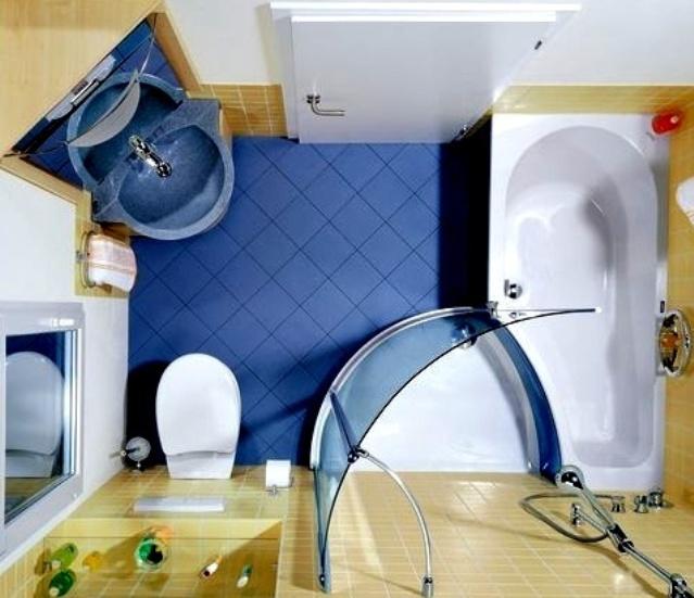 Дизайн ванной комнаты (фото 33) Площадь
