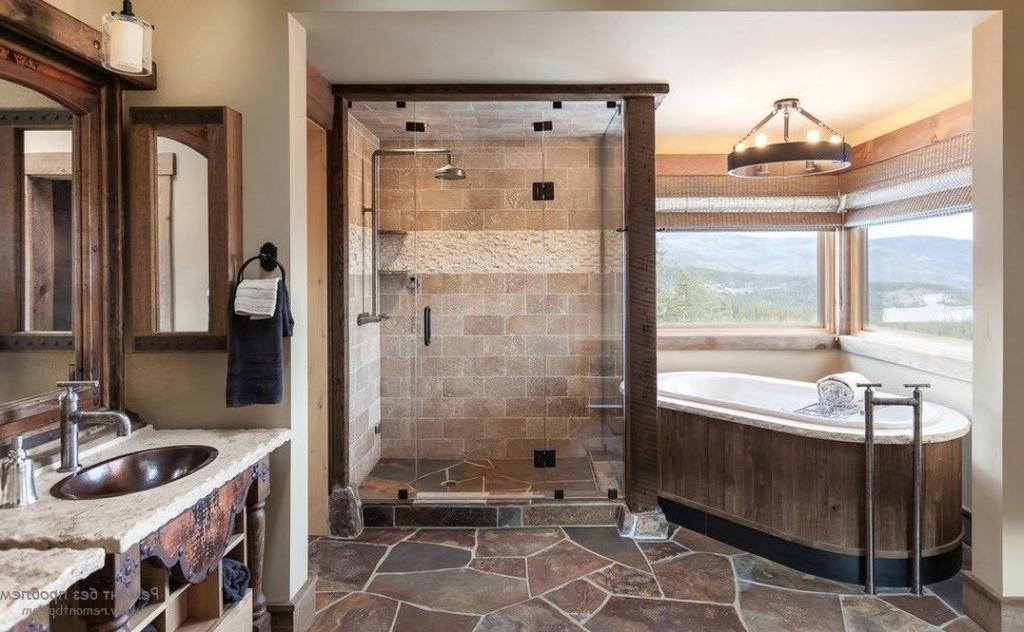 ванная комната камень