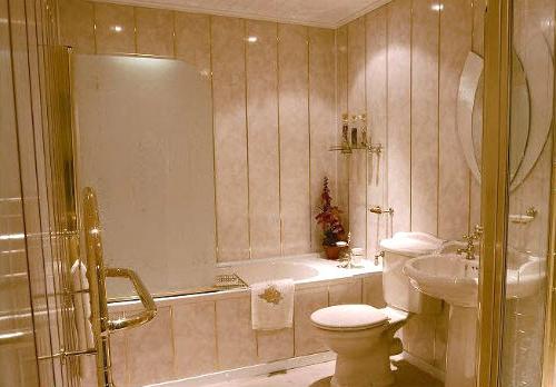 Отделываем ванную пластиковыми панелями фото