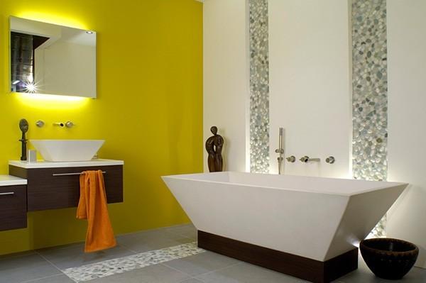 ванная комната - желтый цвет