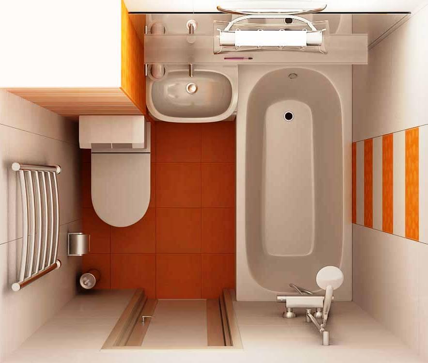 Ремонт в ванной  в хрущевке