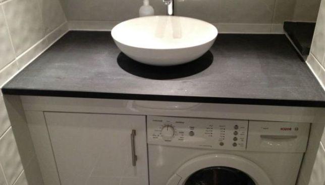 Тумба для ванной комнаты под стиральную машину и раковину