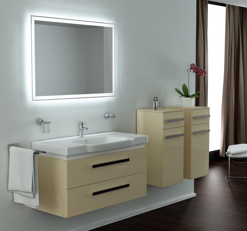 Зеркало с подсветкой в ванную комнату своими