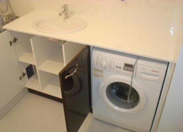 фото со стиральной машиной в ванной
