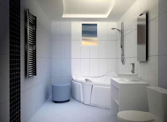 потолок в ваннойи комнате