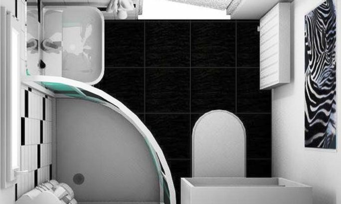маленька ванна кімната дизайн фото