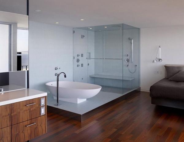 дизайн ванной комнаты (стиль минимализм)