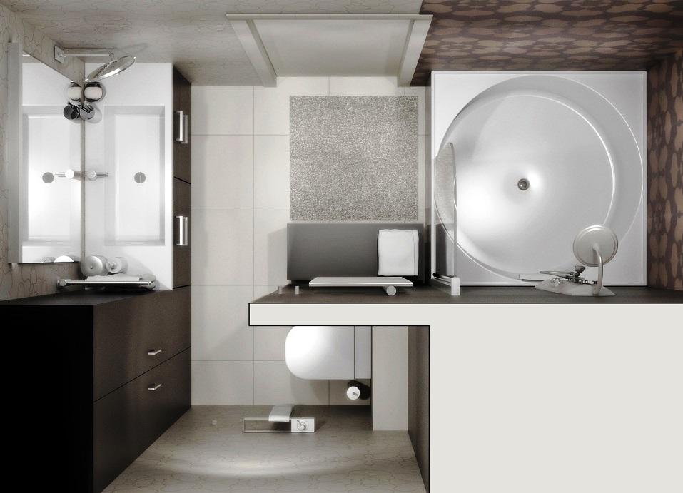 Интерьер ванной комнаты (фото